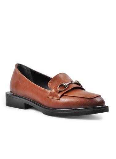 Esstii 8905 Haki Süet Kadın Günlük Ayakkabı Taba